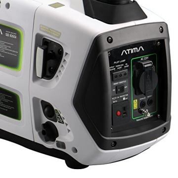 Atima SD1000i 1 kW leiser, tragbarer Inverter Stromerzeuger, Generator, mit 4-Takt Benzin-Motor benzinbetrieben - 4