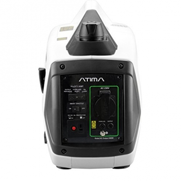 Atima SD1000i 1 kW leiser, tragbarer Inverter Stromerzeuger, Generator, mit 4-Takt Benzin-Motor benzinbetrieben - 5