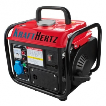 Benzin Power Strom-Generator 1,47 kW (2,0 PS) KRAFTHERTZ Stromerzeuger Stromaggregat 850 Watt -