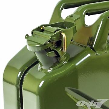Benzinkanister Metall 20 Liter mit UN-Zulassung - TÜV Rheinland Zertifiziert - Bauart geprüft (Benzinkanister 20 Liter) - 2