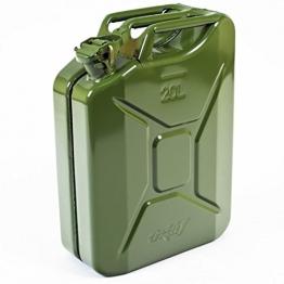 Benzinkanister Metall 20 Liter mit UN-Zulassung - TÜV Rheinland Zertifiziert - Bauart geprüft (Benzinkanister 20 Liter) - 1