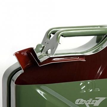 Benzinkanister Metall 20 Liter mit UN-Zulassung - TÜV Rheinland Zertifiziert - Bauart geprüft (Benzinkanister 20 Liter) - 4