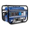 EBERTH 1000 W Benzin Stromerzeuger Notstromaggregat Stromaggregat Generator (3 PS Benzinmotor, 4-Takt, luftgekühlt, Ölmangelsicherung, Seilzugstart, 1-Phase, 1x230V, 1x12V, Voltmeter), blau -