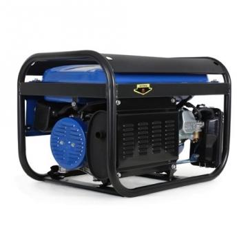 EBERTH 2200 Watt Benzin Stromerzeuger Notstromaggregat Stromaggregat Generator (Automatischer Voltregler AVR, 5,5 PS Benzinmotor, 4-Takt, luftgekühlt, Ölmangelsicherung, Seilzugstart, 1-Phase,  2x230V, 1x12V, Voltmeter), blau -